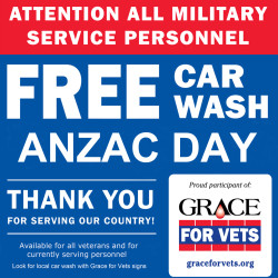 Free car wash for war veterans and service personnel - Luxe Car Wash